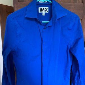 Express royal blue dress shirt